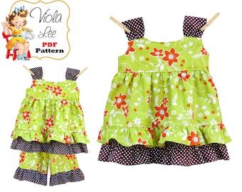 Toddler Dress Pattern & Top Pattern. Girls Dress Pattern. PDF Girls Sewing Pattern. Childs Dress Pattern. Kids Sewing Patterns, Tutorial Zoe