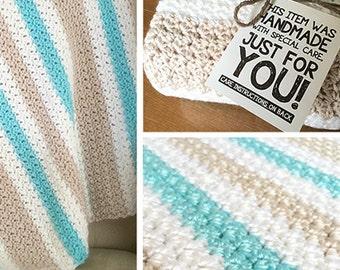 Crochet Pattern: Baby Blanket (Sweet Ocean Breeze Baby Blanket Crochet Pattern by Little Monkeys Crochet) PDF Crochet Blanket Pattern
