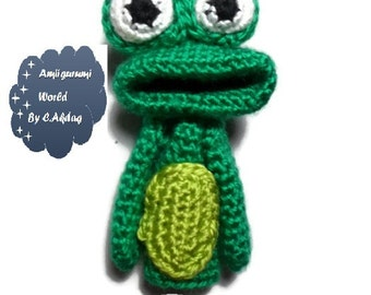 Amigurumi Pattern Crochet PDF- finger frog puppet