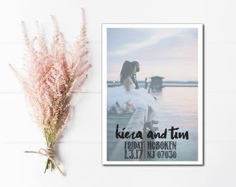 custom photo save the dates, printable save the date card, rustic wedding save the date, photo save the date, save the date cards