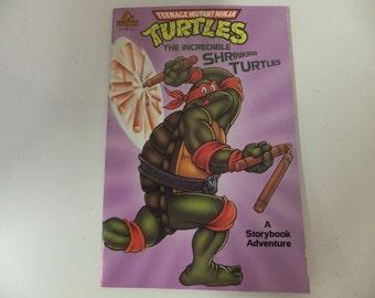 Teenage Mutant Ninja Turtles Vintage Random House Story Book Adventure 'The Incredible Shrinking Turtles'