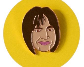 Patti LuPone enamel lapel pin