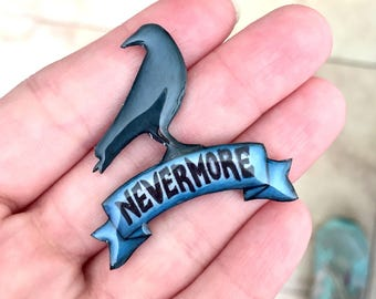 Nevermore Raven Pin