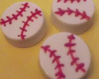 Baseball Chocolate Covered Oreo-Birthday-Shower