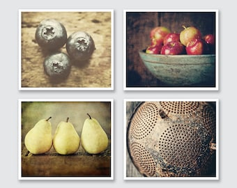 Rustic Kitchen Decor - Rustic Kitchen Art - Set of 4 Kitchen Prints or Canvas Set - Country Kitchen Wall Art - Farmhouse Art for Kitchen.