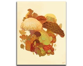 Toadstool 8.5 x 11 Art Print
