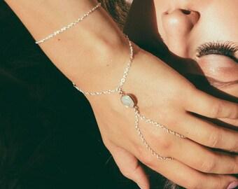 rainbow moonstone talisman hand chain, moonstone jewelry, festival jewels, festival chain, moonstone wedding, wedding hand chain