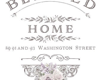 "Blessed Home Prima Marketing Decor Transfer. 24.6"" x 30"""