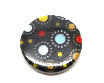 Shell Pearl round 20mm round and black multicolored