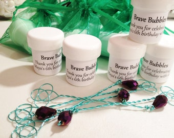 20 Party or Wedding Bubbles, Any Theme/Colors, Bubble Wand Favors, Personalized Party Favor