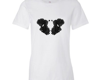 Rorschach Ink Blot Psychology T Shirt Gift for Therapist Women's Style 3