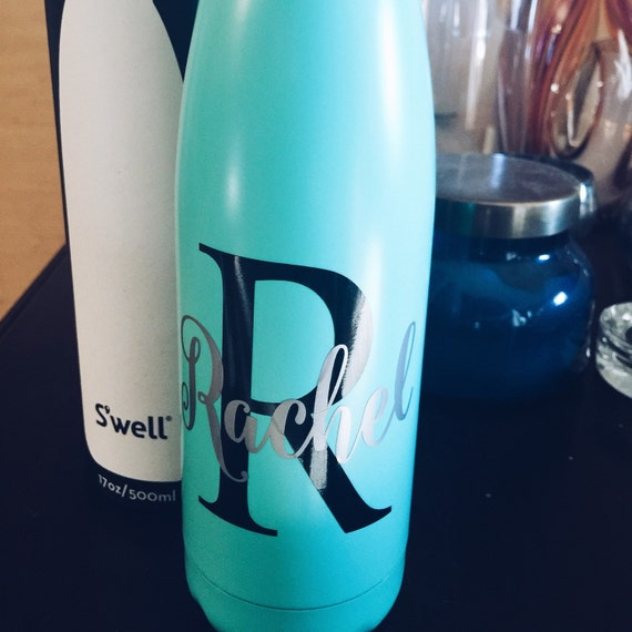Personalized Turquoise Swell Bottle - Initial and Name - Bridesmaids, Yoga, Teacher, Sorority Swell Bottle