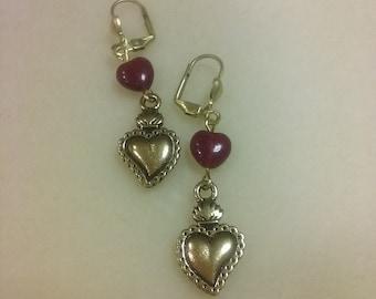 Sacred Heart Milagro Earrings