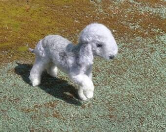 Bedlington Terrier /  Needle Felted Dog / Custom Pet Portrait / Handmade Animal Sculpture / Lifelike Memorial / Poseable