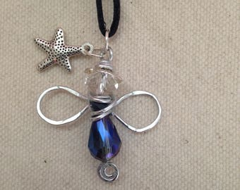 Handmade Wire-Wrapped Starfish Angel Necklace