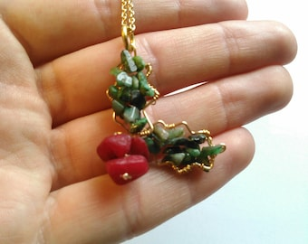 Emerald & Coral Winter Holly