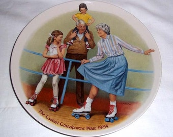 Knowles Collectors' Plate by Joseph Csatari THE SKATING QUEEN / Grandparent Series / Limited and Numbered