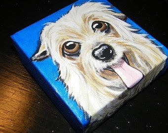 CUSTOM Painted Pet Portrait 4x4