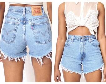 Vintage Levis Denim Cut-Off Shorts Festival