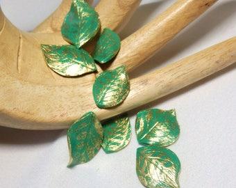 Rose leaf veins * Stardust * N ° 2 sets of 3