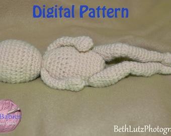 Amigurumi Doll Crochet Pattern, Amigurumi Micro Preemie, Amigurumi Crochet Pattern, Micro Preemie Doll DIY, Crochet Doll Pattern. Digital It