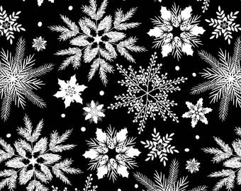 Henry Glass & Co 'Snowflake' Fabric By The Yard; Holiday Homecoming by Jan Shade Beach, 6763-99
