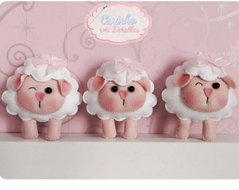 Cute Sheep PDF Pattern, Felt Pattern, Plush Pattern