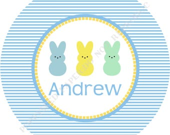 Bunny melamine plate- Personalized melamine plate- Easter bunny plate- Kids plate- - Bunny - Personalized with name - Boy
