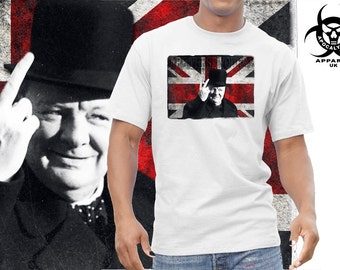 Churchill are these yours Union Jack British Tshirt