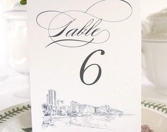 Hawaii Skyline Table Numbers (1-10)
