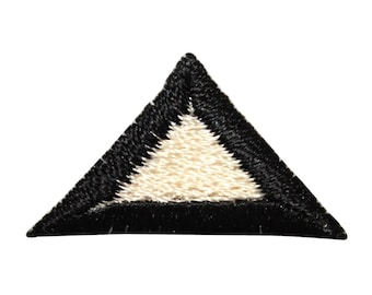 ID 8820 Lot of 3 Triangle Symbol Patch Shape Craft Embroidered Iron On Applique