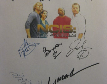 ncis Los Angeles LA Signed TV Script Screenplay X11 Autograph Chris O'Donnell Daniela Ruah Linda Hunt LL Cool J Eric Christian Olsen Corbett