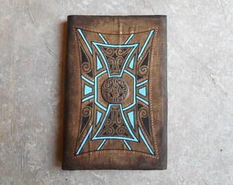 Notebook - ethnic sketchbook - journal - diary - gift for Traveler - Medallion