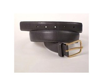 Vintage, Dark, Grey, Leather Belt, Leather, Size ML 36 in. Woman's Clothes. Woman's accessories