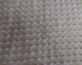 """WHITE on White with Oval Chenille POPS Vintage Chenille Bedspread Fabric - 24"""" X 30"""""""