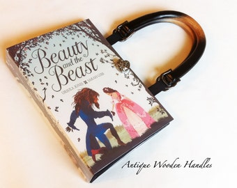 Beauty and The Beast Recycled Book Purse - Disney Princess Gift