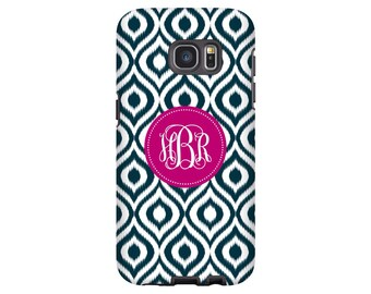 Galaxy Note 8 case, Galaxy S8 case/S8 Plus, retro iKat Galaxy S7 case, monogram Samsung Galaxy case, Galaxy S6 case, monogrammed phone cover