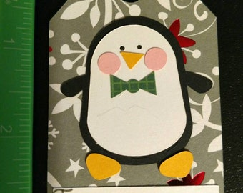 Penguin gift tags, pack of 6