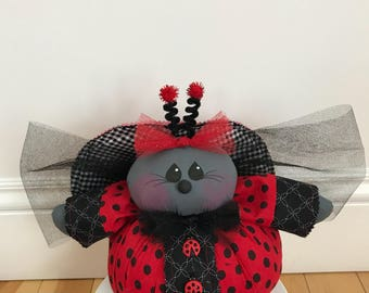 Ladybug, great for summer and spring decor.
