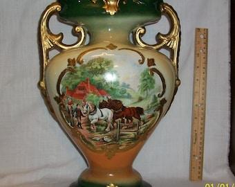 "Listing 161 is the antique New Victor Ceramic 14""H vase"