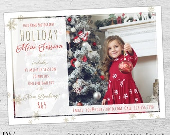 Christmas Mini Template, Holiday Mini Session Template, Christmas Mini Session Template, Chrstmas Marketing, Photoshop Template, Photography