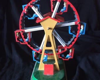 Vintage  Toy, Tin Toy, Wind Up Toy, Ferris Wheel - 1970