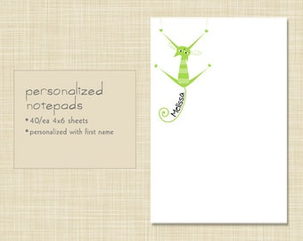 Personalized Notepad - Get a Grip Kitty Cat