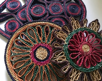 Vintage Rattan Trivets