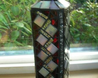 Red Mosaic bottle or vase