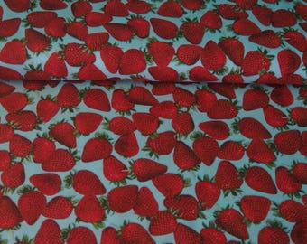 Medley of Strawberry red on blue background