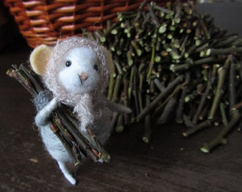 Mouse wool home decor mouse gifts needlefelted woodland animals felted toy cute mouse easter decor cute accessory needle felted mice