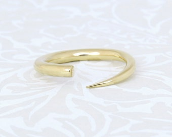 Unique Gold Ring, 14k Gold ring, Minimalist Gold ring, Modern ring, unique ring, Shiny 14k Gold Ring, gift