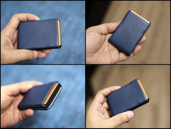 Minimalist Wallet, Personalized Men's Wallet, Best men gift, Custom Engraved - RFID protection