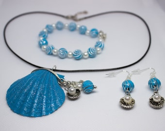 Sea inspired jewelry set